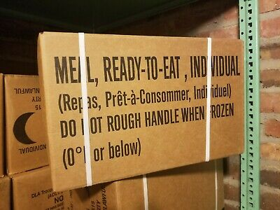 Genuine US Military MRE (Meals Ready-To-Eat) Case B Inspection Date 2020
