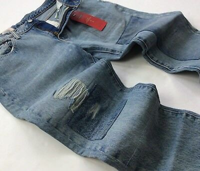 LEVI'S LEVIS MEN 511 Distressed Ripped Repaired Patchwork