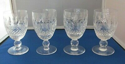"""4 Waterford Crystal Colleen Short Stem Wine Glasses 4 3/4"""""""