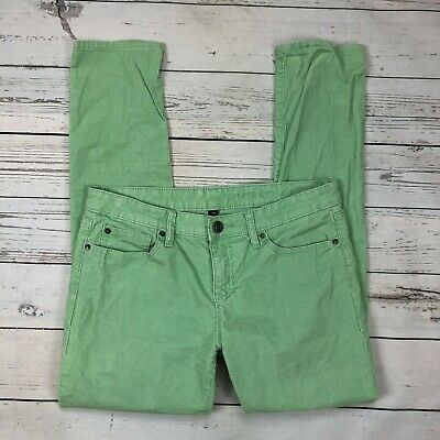Gap Premium Skinny Corduroy Pants Size 8/29 Womens 8 Fresh Mint Green Stretch