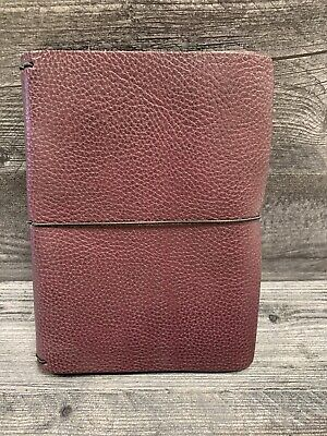 Chic Sparrow Travelers Notebook USED TRI-FOLD Aubergine