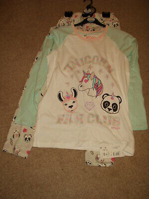 Girls Unicorn Pyjamas  Age 13/14  Years. Marks & Spencer. Rrp £19. Bnwt