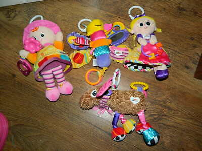 girly Lamaze baby toy bundle job lot * dragonfly, princess, doll, deer