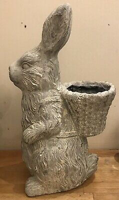 Latex Mould for making this Large Bunny With Small Basket/ Pot On Back