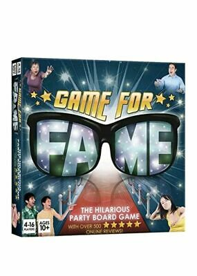 Game For Fame The Hilarious Party Board Game - New Sealed - Free UK Postage