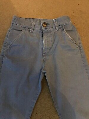 Next Age 11 Blue Chino Jeans With Adjustable Waist