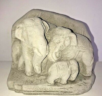 Latex Mould for making Beautiful 3d elephant family plaque