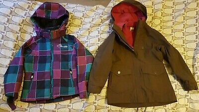 Girls Coat Bundle age 5-6.Detachable hood.Inc Extra Fleece! Warm & Dry