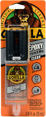 Gorilla 2 Part Epoxy 5 Minute Set .85 Ounce Syringe Clear (Pack Of 1)