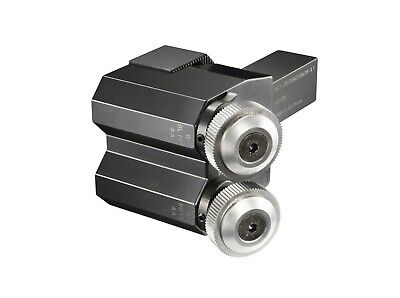 Zeus double wheel cut knurling tool holder - for diamond knurling cut