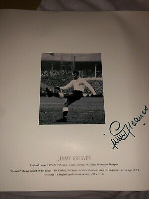 Jimmy Greaves Signed Print