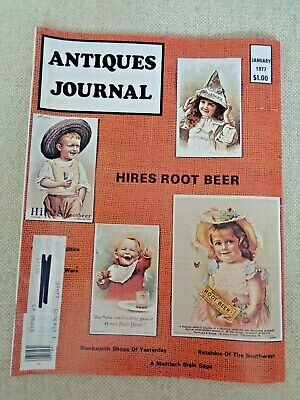 Antiques Journal 1977 Hires Root Beer Mettlach Steins Political Quilts Retablos