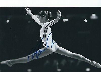 NADIA COMANECI SIGNED 8x10 PHOTO - UACC & AFTAL RD AUTOGRAPH - OLYMPIC GOLD