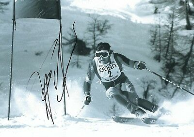 FRANZ KLAMMER SIGNED 8x11 PHOTO - UACC RD - DOWNHILL OLYMPIC GOLD + WORLD CHAMP