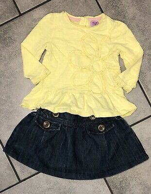 F&F...next Baby Girls Skirt Outfit 6-9 M Vgc