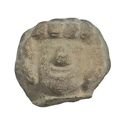 Pre-Columbian Central American Archeological Human Face Clay Pottery Artifact B1