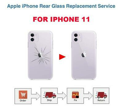 Back cover rear glass repair Replacement Service for iPhone 11 Same day Fix