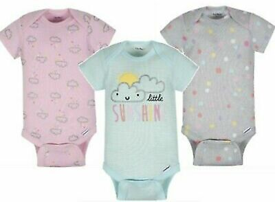 Gerber Baby Girl 3-Piece Elephant//Polka Dots Onesies Size 18M BABY CLOTHES GIFT