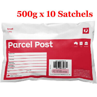 Australia Post Prepaid Parcel Post Satchels - 500g - 10 Pack (10 x Red Small)