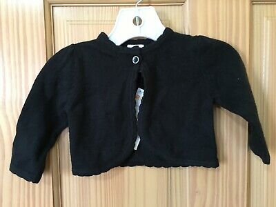 NWT Gymboree Black Crop Sweater Cardigan Girls Baby girl 0-3M Holiday Outlet
