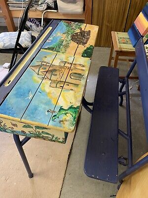 Old Style School Desk Fair condition