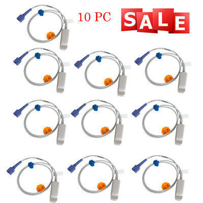 10X Accurate Medical Adult Finger Clip Spo2 Probe For Nellcor DS-100A 7Pins SALE