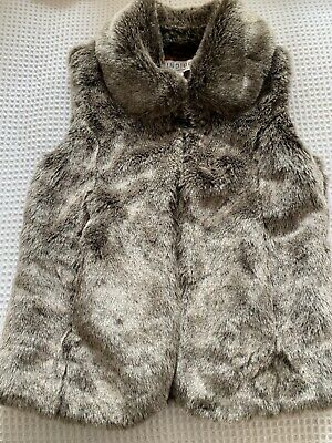 Age 7-8 Faux Fur Gillet From Limited @ Marks & Spencer -VGC