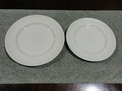 2 Vintage Johnson Australia Plates, Soft Green, Pie Crust Edge