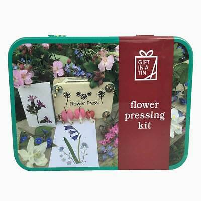 Flower Pressing Kit Gift in a Tin by Apples To Pears Ltd.  Flower lover gift