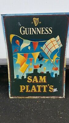 Guinness Sam Platts Manchester United Pub Sign LOOK Rare One Off
