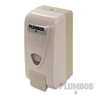 Plumbob Liquid Refillable Bulk Fill Soap Dispenser 1 Litre Plastic Industrial