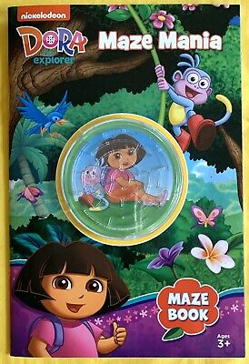 Nickelodeon DORA THE EXPLORER Maze Mania MAZE BOOK, With Toy On Cover-NEW