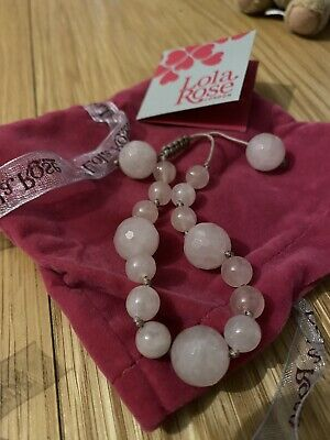 Lola Rose Pink Agate bracelet - BRAND NEW WITH TAGS