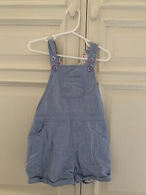 Little White Company Chambray Girls Shorts Dungarees 4-5yrs