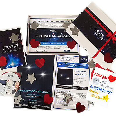 Personalised Valentines Family Gifts Name A Star Box Set Nan Grandad Mum Dad