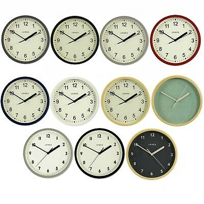 Modern Round Wall Clock for Small Spaces Kitchen Office Jones Clocks 20cm