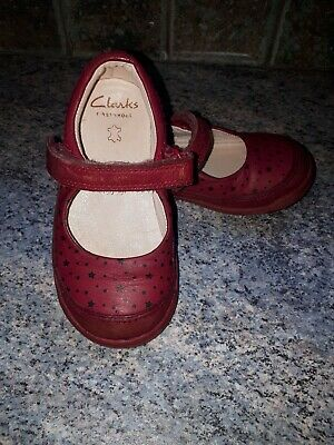 Girls Clarks Shoes Size 6H