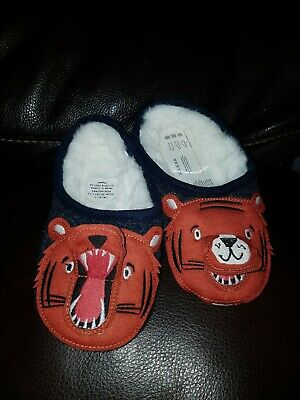 Joules Slippet Felt Mule Character Boys Footwear Slippers Tiger All Size 10-11