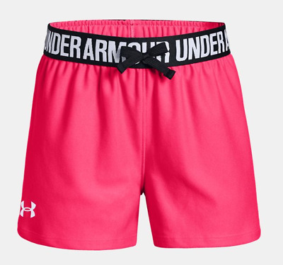 Under Armour Play Up Shorts Girls Pink Size UK 7-8 Years *REF56*