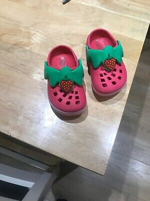 Marks And Spencer Girls Croc Style Sandals Beach Shoes Size UK7