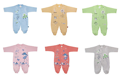Newborn Baby Girl 100% Cotton Sleepsuit All-in-one Babygrow Playsuit 0-6 Months