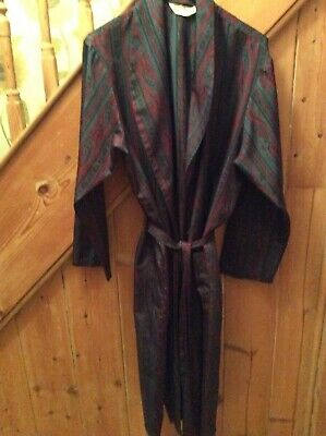 MARKS & SPENCER vintage style kimono silky dressing gown/smoking robe up to 48""