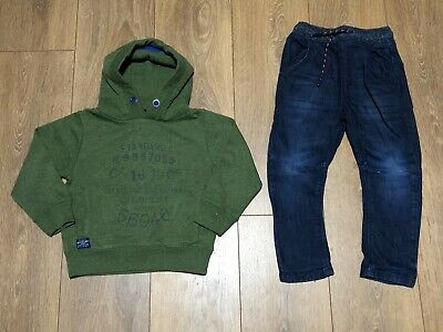 Boys Next Outfit Age 3 Years Jumper Jeans Vgc