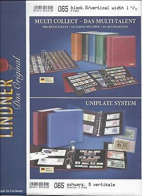 Centurion (G&K) Stock Sheets 5V Two-Sided Five Vertical Pockets Black Pkg. 5