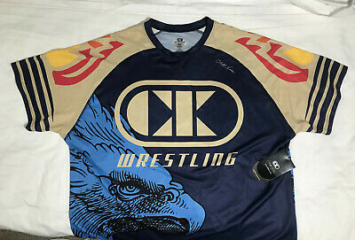 Cliff Keen Wrestling Shirt Size XL NEW WITH TAGS Blue/Tan MMA Wrestling