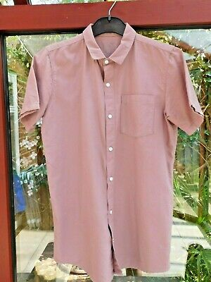 Boys River Island Short Sleeve Shirt, Pink/brown Size 12yrs