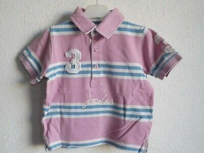Joules girls cotton short sleeve striped polo shirt size 4 5 years