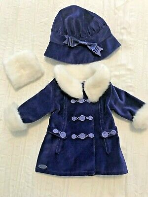 American Girl Doll Rebecca/'s Beforever Winter Coat Jacket Muff /& Hat NEW SEALED