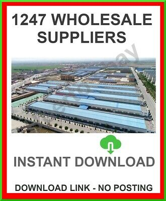 !!1247! Wholesale Suppliers Database U.k. And International *2020* Upto 99% Off