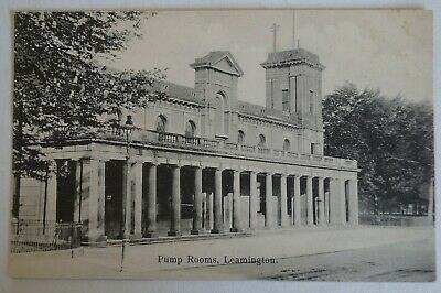 Pump Rooms Leamington England Vintage Antiquarian Collectable Postcard.